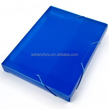 China manufacturer custom colorful a4 size PP elastic band filing document boxes file folder plastic file case