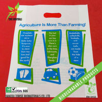 large renewable cornstarch die cut cloths bags