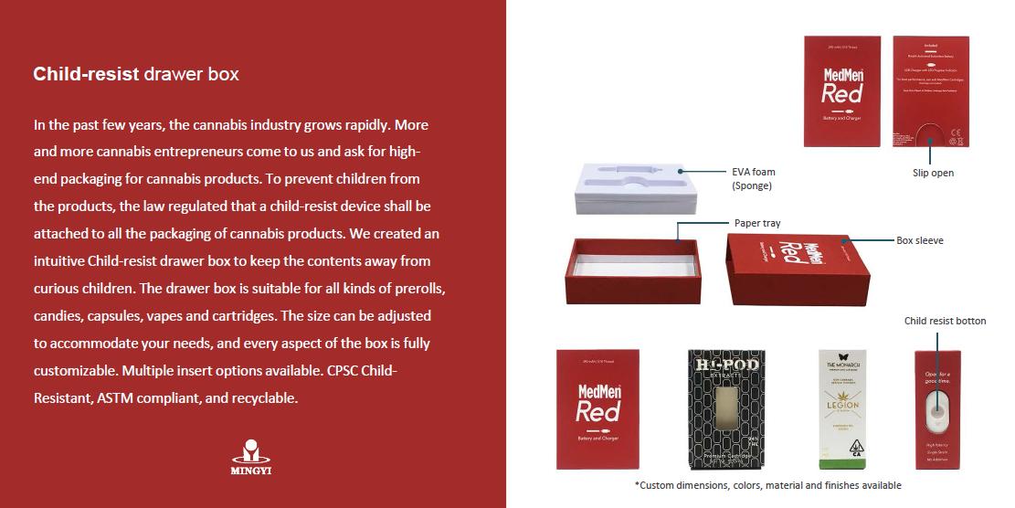 Surface De haute Qualité Résistance Enfant Boîte D'emballage Vape Stylo