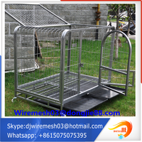 large chain link rolling modular pet fencing panel