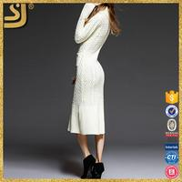 White bodycon dresses for women, plain dress patterns, jacquard diamond knitted pullover sweater