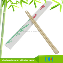Wholesale high quality Chinese style wrapped with paper sleeve disposable bamboo wooden chopsticks