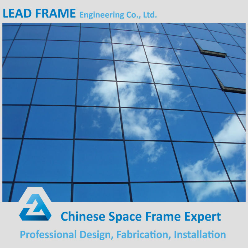 Pre Engineered Steel Building Glass Curtain Wall