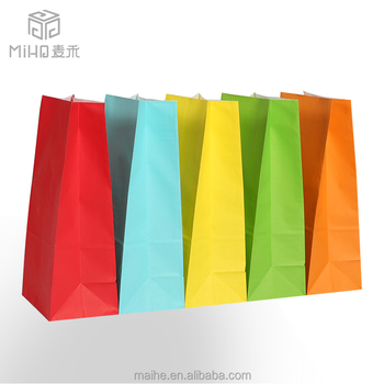 Direct factory machine made customized printing paper shopping bag with logo print