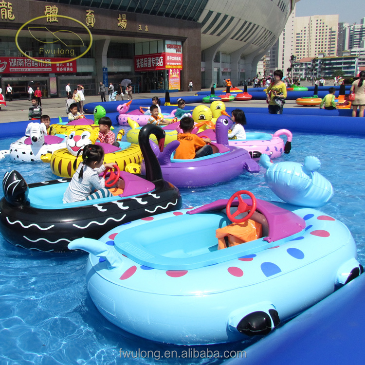 Outdoor Water Park Bumper Boat For Kids Abs Plastic Boat