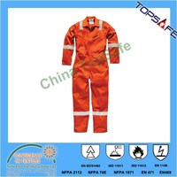 EN11611 EN11612 EN1149 NFPA2112 inherent fire resistant aramid coverall or oil and gas industry