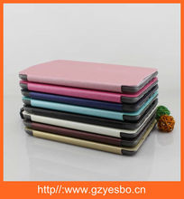 Leather case cover for ipad mini 2/3/4 6 , leather + TPU CASE