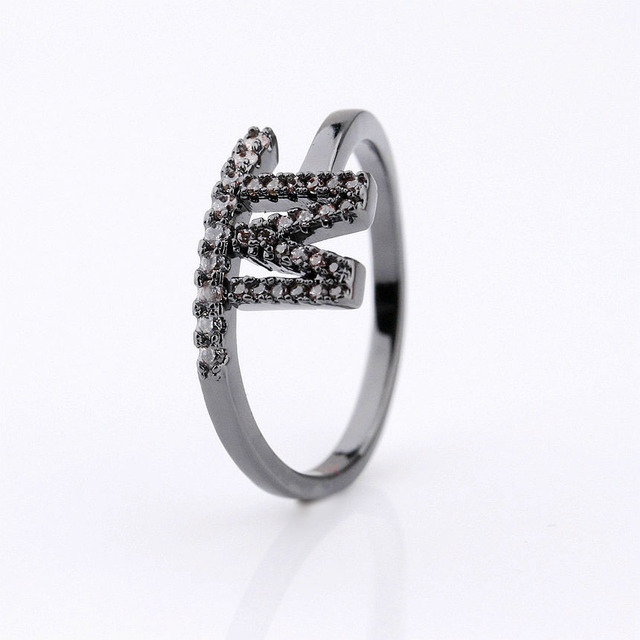 New design cz jewelry infinity zircon silver custom initial rings for lady
