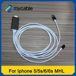 2016 popular product MHL to HDMI cable for Iphone 5 5s 6 6plus
