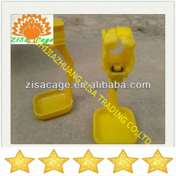 zisa high quality cassette chicken cage automatic plastic nipple water tap drinker