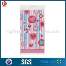 "Valentine Hearts Pattern Plastic Tablecloth 84"" x 54""(rectangular /round style)"