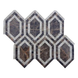 The Best nero marquina-mosaic hexagon tile