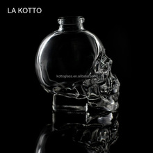 wholesale skull Vodka Wine Flask Container for Home Bar crystal whiskey decanter /kotto glass cup