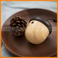 With Sling Built-in Mic Portable Mini Wireless Wooden Bluetooth Nut Speaker