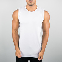 New fashion muscle fit comfortable dry fit cotton stringer tank top men