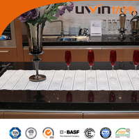 eco-friendly eva material anti slip decorative lace floral table runner