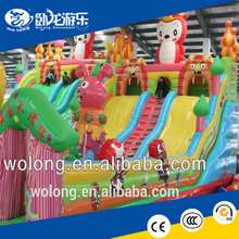 commercial inflatable bouncer combo, inflatable slide