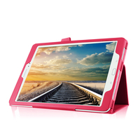 9.7inch tablet pc case for samsung card slot printing folder stand PU leather flip book cover