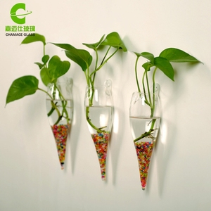 Wholesale Wall Glass Vase, Hanging Tall Glass Terrarium Containers Cheap