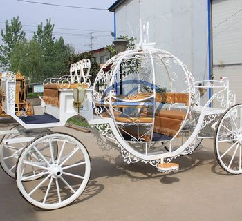 Wedding horse carriage pumpkin horse drawn wagon rear tires 116cm