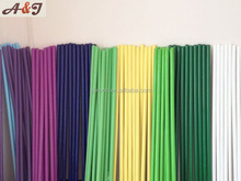 White yellow blue green long wood sticks for home and industrial cleaning brooms