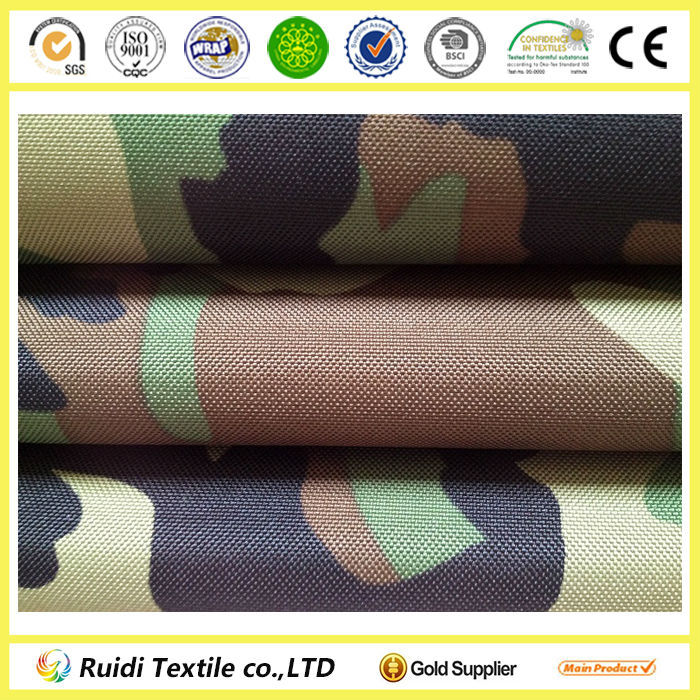Tent Bag Luggage Use Polyester Oxford PVC Fabric Military Camouflage Fabric