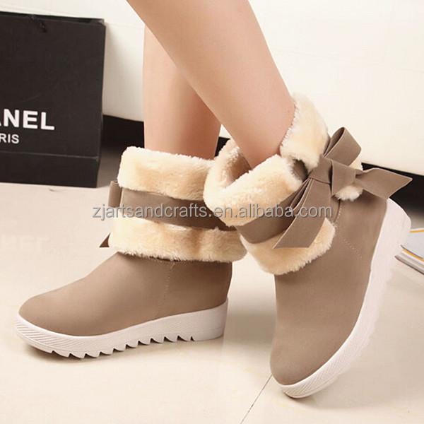 2015 Two wears warm and fashion shoes winter shoesfor women