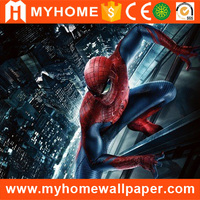 Chinese Factory Direct Supply Stylish Hero Spiderman Design 3d Wall Mural for Children