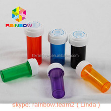 Plastic child resistant pharmaceutical vials cylinder jar capsule bottles for medicine packaging