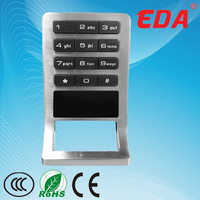 2014 EDA hot sale top class electroni cnumber lock for cabinet for hotel