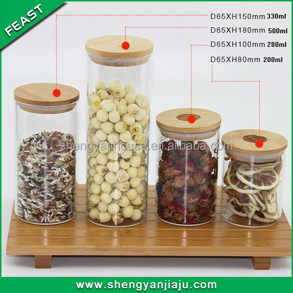 Eco-Friendly FDA,SGS food grade hermetic glass storage jars
