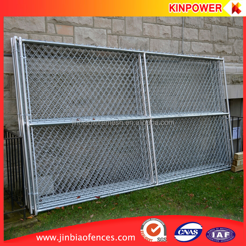 6' high x 12' long chain link portable panels be used temporary construction fences