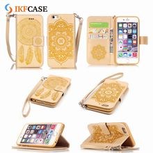 Customized Leather Flip Cover Case for iPhone 7 Mobile Phone Accessory