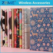 In China Smartphone For Ipad Mini 2 New Cartoon Flower Leather Slot Wallet Pouch Case Skin Cover For Ipad Mini 2