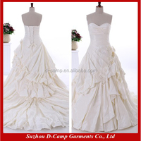 WD180 Sweetheart neckline taffeta pick up ball gown china custom made wedding dress vintage