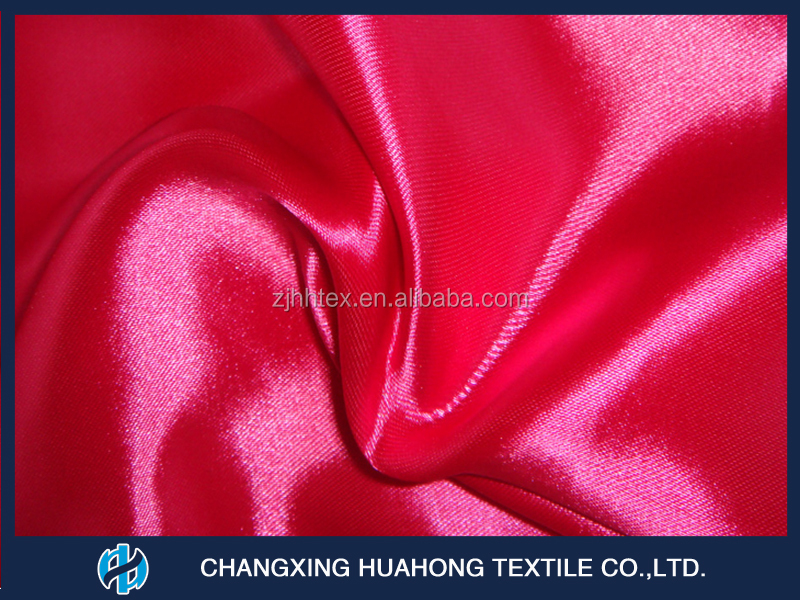 Anti-Shrink 100% polyester satin fabric for curtains from china supplier
