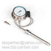 BBZ-Y 3 bourdon tube pressure transmitter with flexible extension