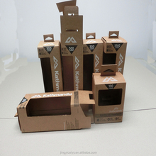 lumens hand torch packaging box use corrugated kraft paper with window