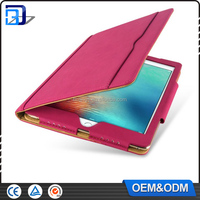Fancy book style universal free sample 9.7 inch leather tablet silicone case cover for ipad air
