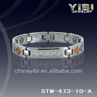 Tungsten mens bangles , Tungsten Carbide Wood Bracelets with Magenets STM-473-10-A
