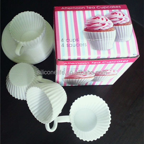 Wholesale 4pc Set Silicone Tea Cupcake