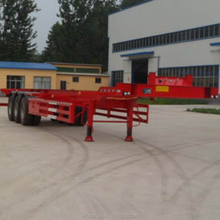 2017 China hot sale 3 axle bare frame 48 ft skeleton container semi trailer