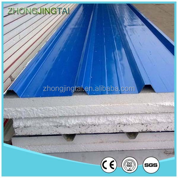 Xiamen ZJT Color Steel Eps Sandwich Wall Paneling for Interior and Exterior Wall