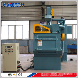Q326 crawler /rubber belt type auto shot blasting machine for alloy casting cleaning
