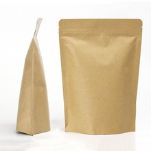 FDA Approved Food Grade Zip Lock Paper Brown Kraft Bag