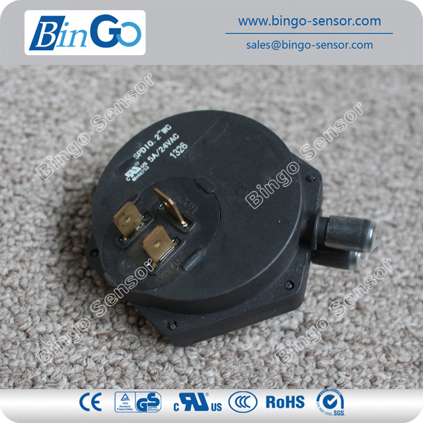 High quality low air pressure switch for natural gas