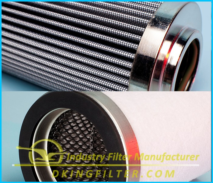 Hydraulic pressure oil return filter element