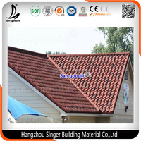 Hot sale in African Market Roof Building Material Price/ Stone Coated Metal Roman Steel Roof Tile