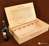 6 bottles wooden wine box, wine crates for sale