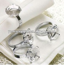 high quality crystal diamond napkin ring for wedding gifts